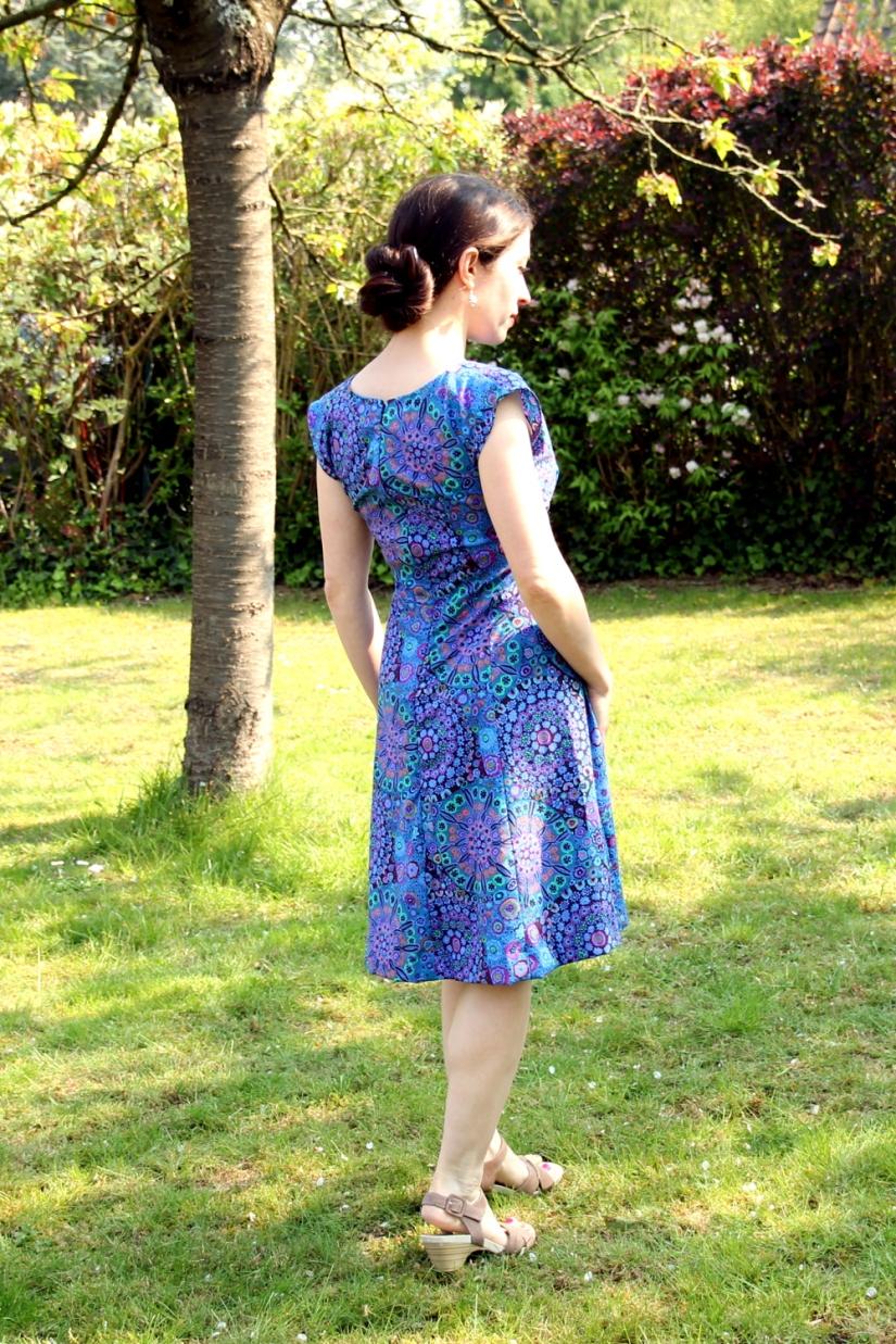 Blue Anna Dress - Back