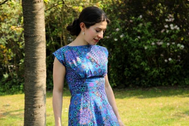 Blue Anna Dress Kaffe Fasset Millefiori Blue