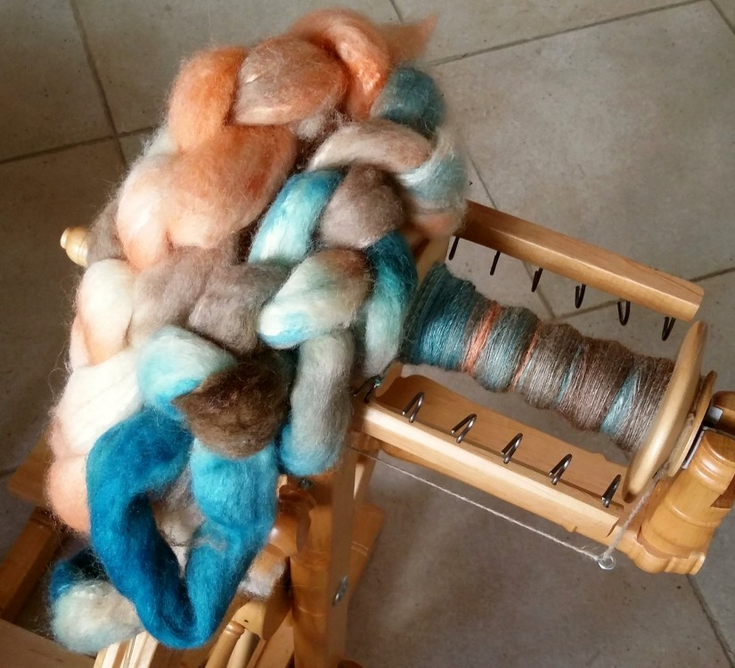 Abalone BFL and Silk - Sara's Texture Crafts Colour Club 1
