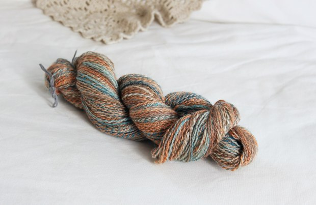 Abalone BFL and Silk - Sara's Texture Crafts
